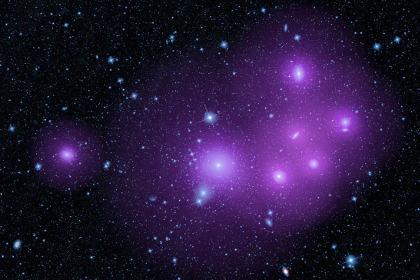 Скрытые сверхмассивные черные дыры объединились в кластер