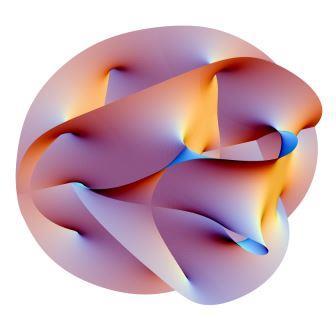 Одна из предполагаемых форм дополнительных закрученных измерений