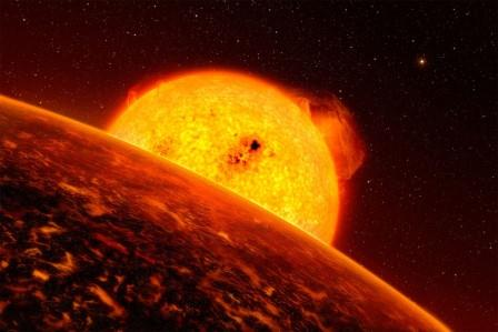 Экзопланета COROT-7 b в представлении художника