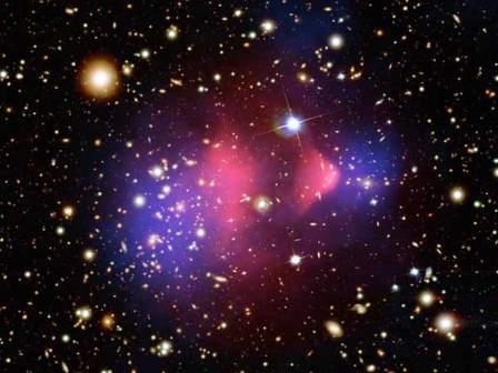Столкновение двух скоплений галактик