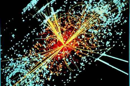 Рождение бозона Хиггса при столкновении двух адронов