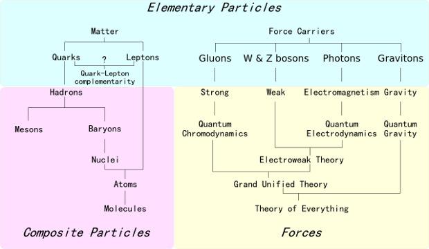 Элементарные частицы и типы взаимодействий
