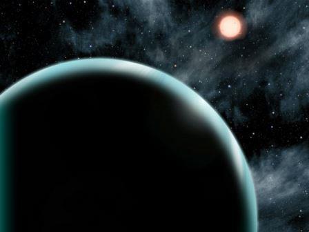 Экзопланета Кеплер-421b и её родительская звезда в представлении художника