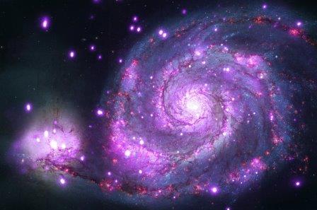 Спиральная галактика Водоворот и её компаньон NGC 5195