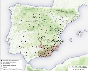 Виды поселений между 2200 и 1550 гг. до н.э.