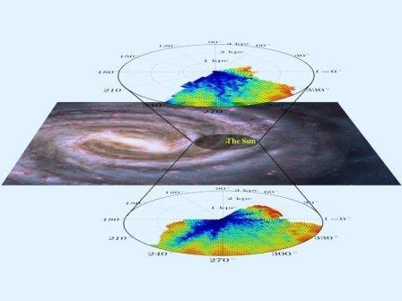 Карта распределения межзвездной материи в Млечном Пути