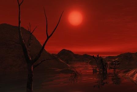 Пейзаж на планете Gliese 581g по версии художника Дрю Тейлора