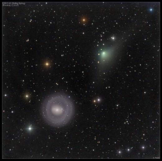 Фото кометы C/2013 A1