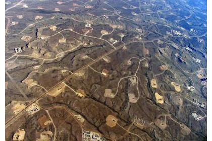 Район добычи сланцевого газа в США