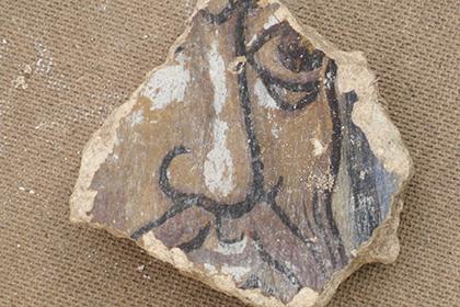 Фрагмент обнаруженных фресок