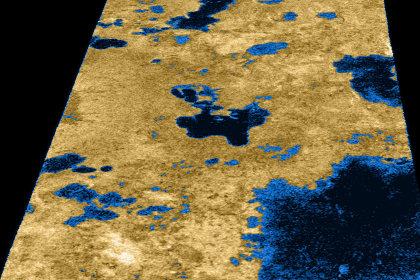 Озера на Титане