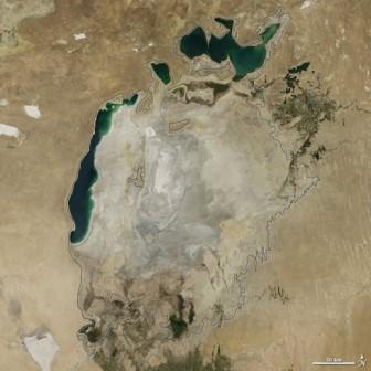 Восточная часть Аральского моря полностью высохла
