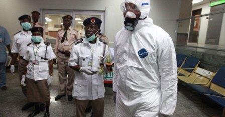 Контроль на Эбола в аэропорту