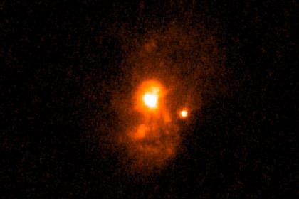 Галактика притворилась ранней вселенной