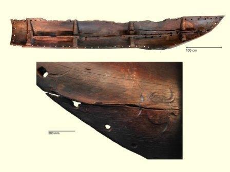 Фрагмент 600-летнего полинезийского каноэ