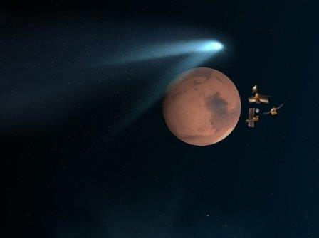 Комета «Siding Spring», Марс и орбитальные аппараты NASA