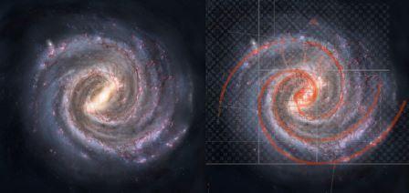 Спирали галактик могут возникать из-за волн плотности