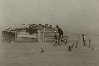 Пыльная буря в Оклахоме в 1936 году
