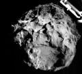 Изображение ядра кометы Чурюмова-Герасименко, переданное зондом Philae