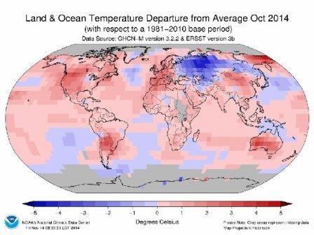2014 год станет самым теплым годом в истории метеонаблюдений
