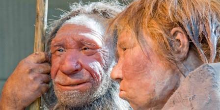 Реконструкция неандертальского мужчины и женщины
