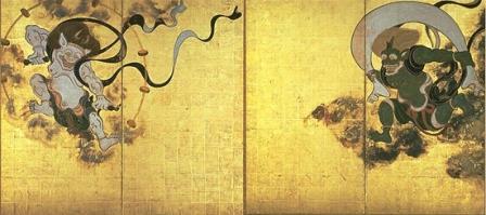 Боги Райдзин и Фудзин