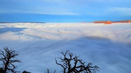 Фото инверсионной облачности в Гранд-Каньоне 11 декабря 2014 года