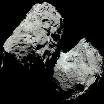 Первое цветное изображение кометы Чурюмова-Герасименко