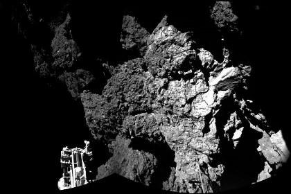 Фотография, сделанная зондом Philae