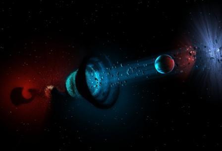 Космическая червоточина глазами сетевого художника