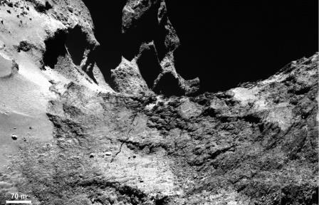 Представлены первые результаты анализа структуры кометы Чурюмова - Герасименко