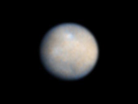 Церера. Снимок сделан Снимок телескопом Хаббл (ACS)