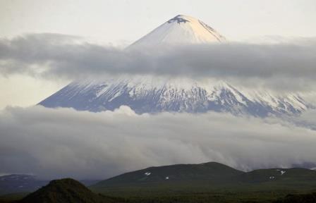 На склоне Ключевского вулкана