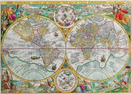 Карта Мира Петро Планко 1594 г.