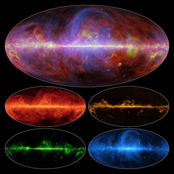Эффектные карты Млечного Пути