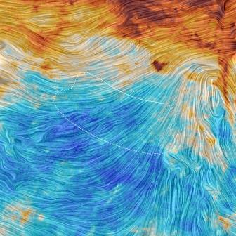 участок неба, за которым наблюдал спутник «Планк»