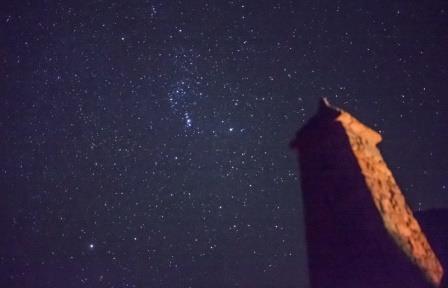 Звездное небо в окрестностях Итум-Кале