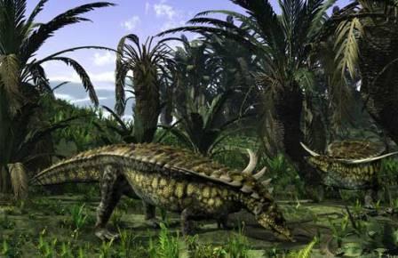 Этозавр Desmatosuchus, родственник горжетозухуса