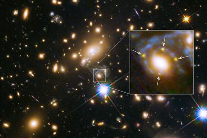 Четыре изображения сверхновой