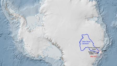 Местоположение ледника Тоттен