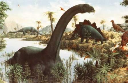 Историческая реконструкция бронтозавра
