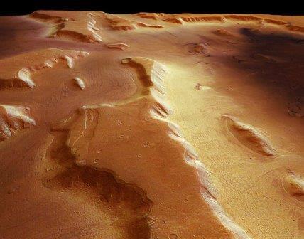 Снимок с камеры HRSC зонда Mars Express: один из ледников, скрытый под слоем пыли  РИА Новости http://ria.ru/science/20150409/1057524818.html#ixzz3WoSe9rY4