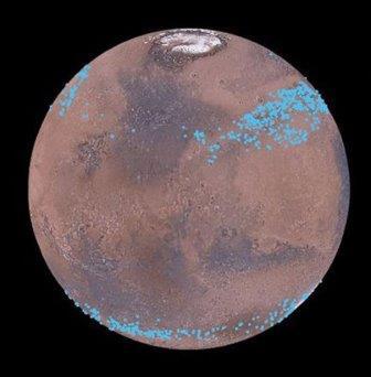"""""""Ленты"""" ледников в средних широтах Марса"""