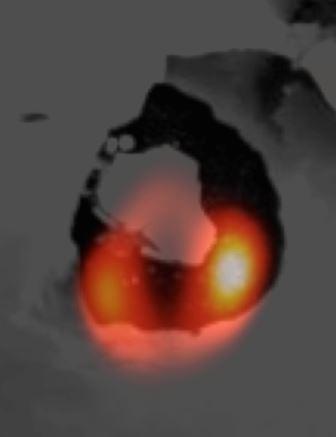 Инфракрасная фотография вулкана Локи на Ио, спутнике Юпитера