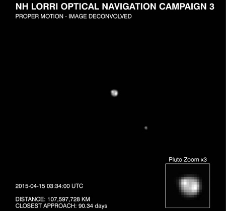 Зонд NASA передал новые снимки Плутона