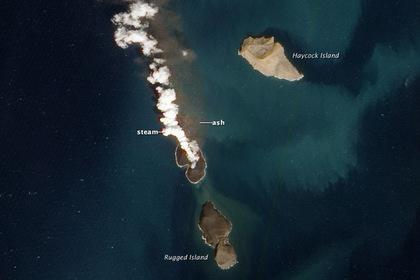 Образование нового вулканического острова