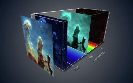 Трехмерное фото знаменитых Столпов Творения в созвездии Змеи