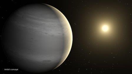Художественное изображение гелиевой планеты-нептуна