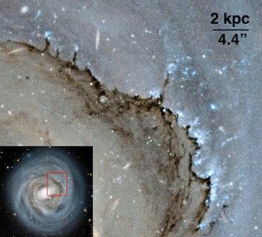 Спиральная галактика в созвездии Волосы Вероники