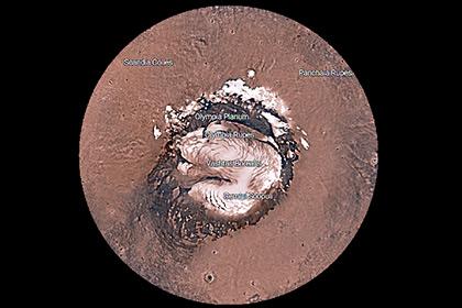 НАСА запустило интерактивную карту Марса